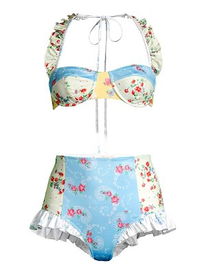 LOVESHACKFANCY kimberly 2-piece floral bikini set