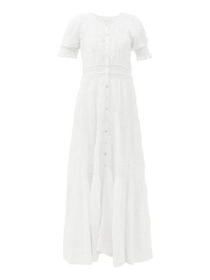 LOVESHACKFANCY minka floral-embroidered cotton maxi dress