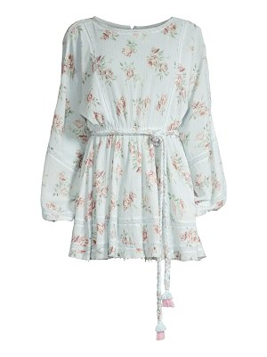 LOVESHACKFANCY noelle floral cotton mini dress
