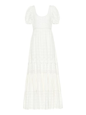 LOVESHACKFANCY ryan lace-trimmed cotton dress