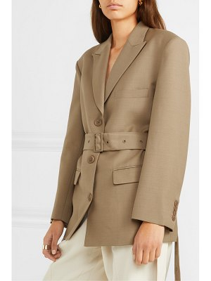 LOW CLASSIC belted wool-blend blazer