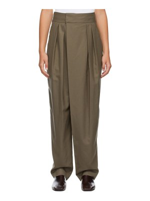 LOW CLASSIC classic wide tuck trousers