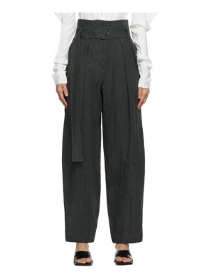 LOW CLASSIC green wide tuck trousers