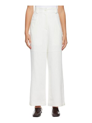 LOW CLASSIC off- classic back pocket cotton trousers