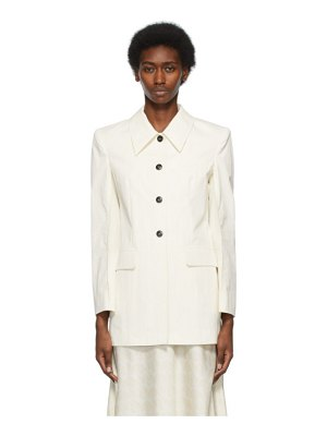 LOW CLASSIC off-white curve sleeve jacket