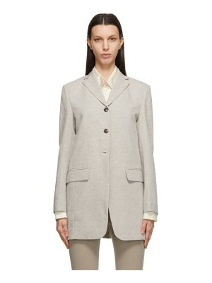 LOW CLASSIC taupe linen classic blazer