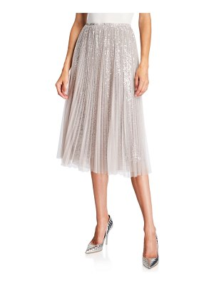 Loyd/Ford Sequined Tulle Layered Midi Skirt