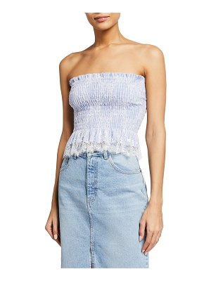 Loyd/Ford Strapless Bustier French Lace Top