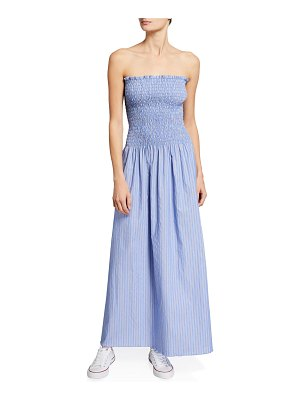 Loyd/Ford Strapless Chambray Bustier Maxi Dress