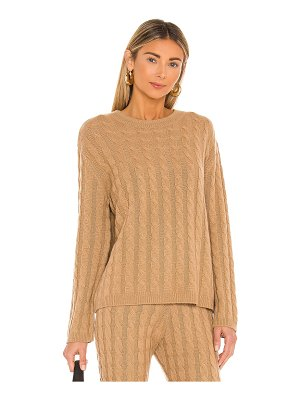 LPA cashmere cable knit crew sweater