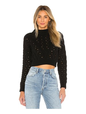 LPA cropped cable sweater
