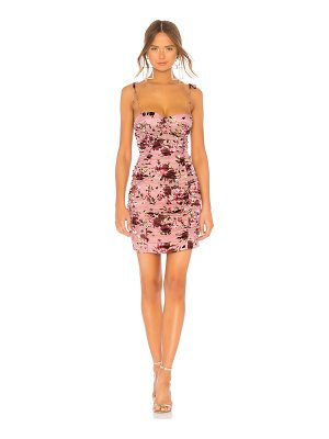 LPA ruched dress with ties