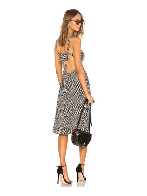 LPA square neck midi dress