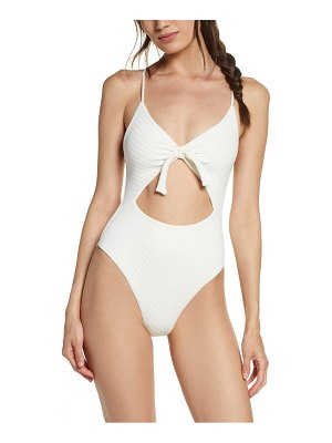 L*Space miss molly crossroads texture one-piece swimsuit