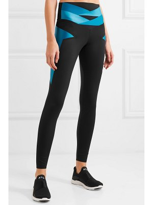 Lucas Hugh axis mesh-paneled stretch leggings