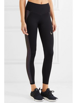 Lucas Hugh odyssey mesh-paneled stretch leggings