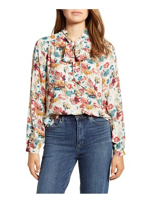 Lucky Brand ava floral tie neck blouse
