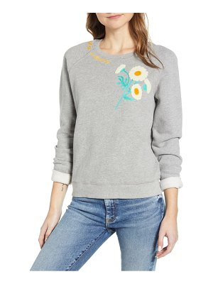 Lucky Brand daisy fresh applique sweatshirt