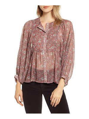 Lucky Brand floral babydoll top