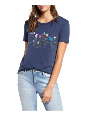 Lucky Brand floral banner tee