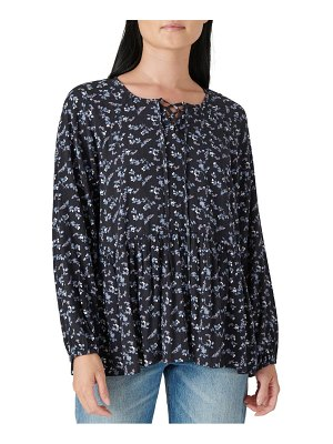 Lucky Brand floral long sleeve tunic top