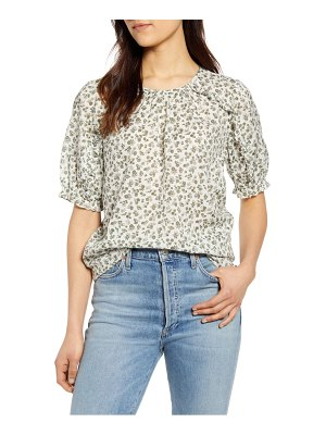 Lucky Brand floral ruffle top