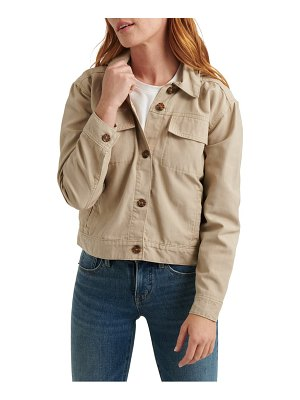 Lucky Brand hooded canvas utility jacket