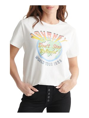 Lucky Brand journey 1983 tour boyfriend graphic tee