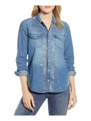Lucky Brand metallic western shirt