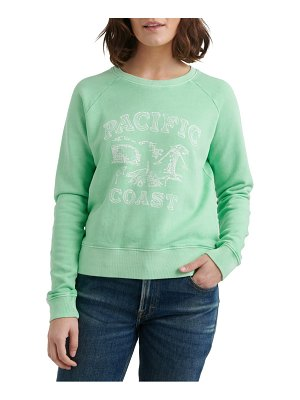 Lucky Brand pacific coast crewneck cotton sweatshirt