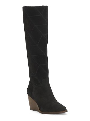 Lucky Brand preeka knee high wedge boot