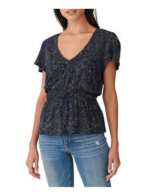 Lucky Brand smocked floral print t-shirt