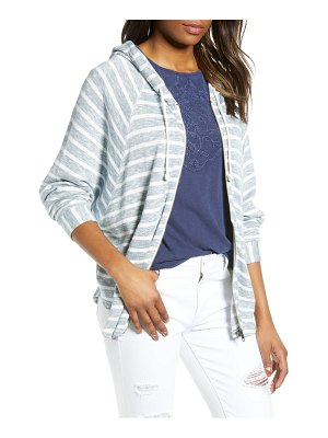 Lucky Brand striped hooded poncho