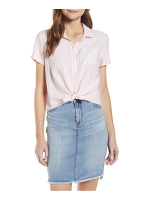 Lucky Brand tie front button-up shirt