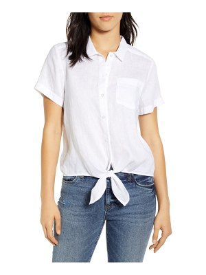 Lucky Brand tie front shirt