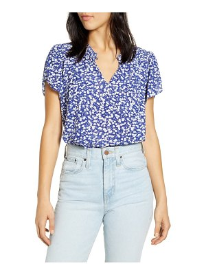 Lucky Brand tulip sleeve floral top