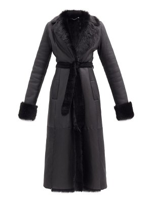 Ludovic de Saint Sernin belted leather and shearling coat