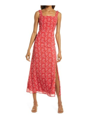 Lulus back to backless floral print sleeveless dress