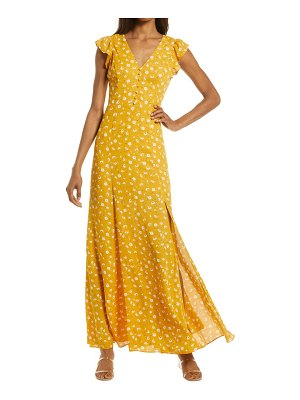 Lulus fresh picked floral backless maxi dress