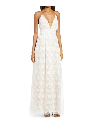 Lulus ivywood embroidered lace backless gown