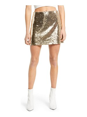 Lulus live in the spotlight sequin miniskirt