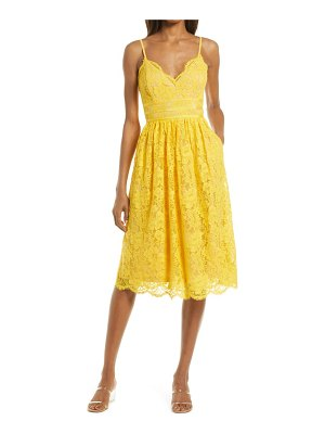 Lulus treasure me embroidered lace fit & flare dress