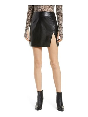 Lulus walking the walk faux leather miniskirt