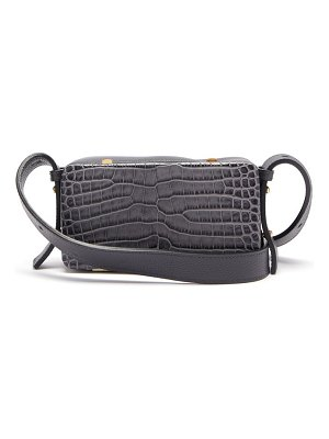 LUTZ MORRIS eddy crocodile-effect leather shoulder bag