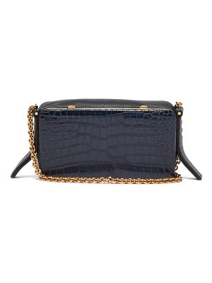 LUTZ MORRIS elise crocodile-effect leather shoulder bag