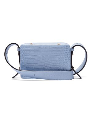 LUTZ MORRIS maya crocodile effect leather cross body bag