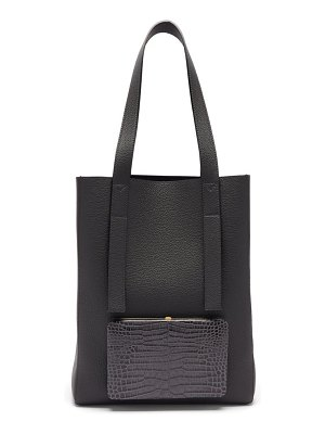 LUTZ MORRIS seveny grained-leather tote bag