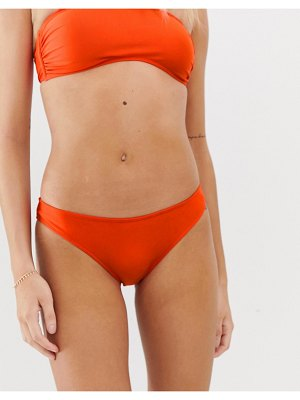 Luxe Palm mix and match hipster bikini bottoms in red