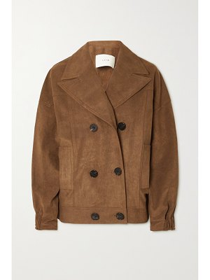 LVIR double-breasted faux suede jacket