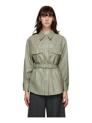 LVIR faux-leather belted shirt